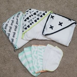 Never used baby towel set